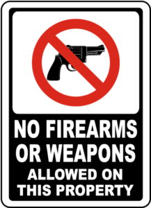 no gun sign