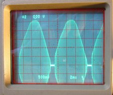 Transformer primary current envelope waveform
